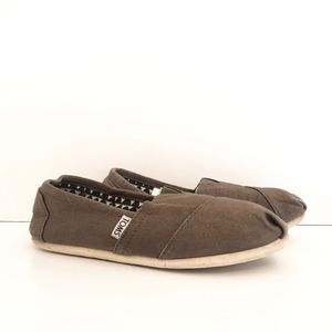 Toms Classic Canvas Slip On Army Green Shoes